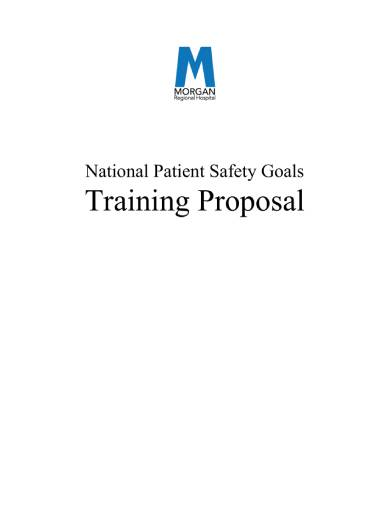 national patient safety goals training proposal sample