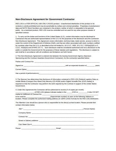 Free 6 Contractor Non Disclosure Agreement Samples In Doc Pdf