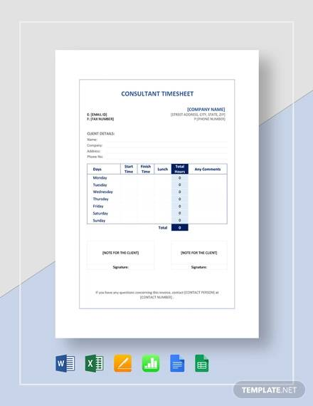 sample consultant timesheet template1