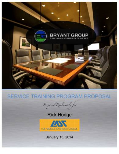 service training program proposal sample