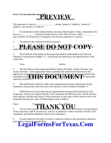 Free 9 Incorporation Agreement Samples In Pdf Word