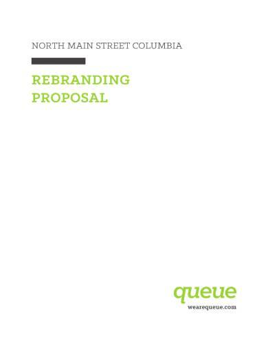 simple rebranding proposal sample