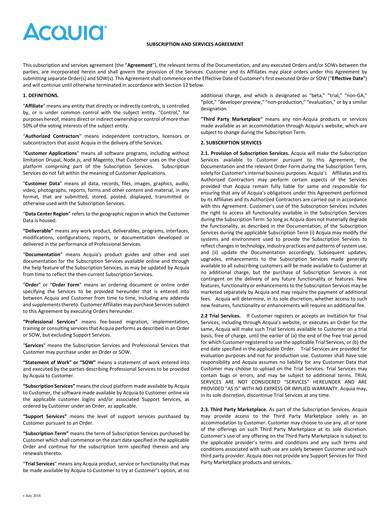 software subscription and services agreement sample