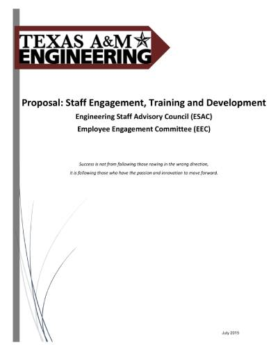 staff engagement training and development proposal