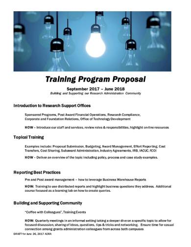 training program proposal sample