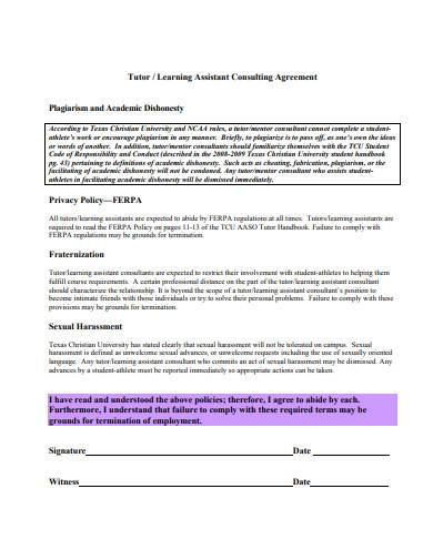 tutor assistant consulting agreement