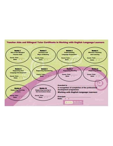 tutor certificate template