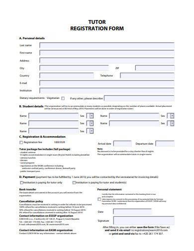 tutor registration form in pdf1