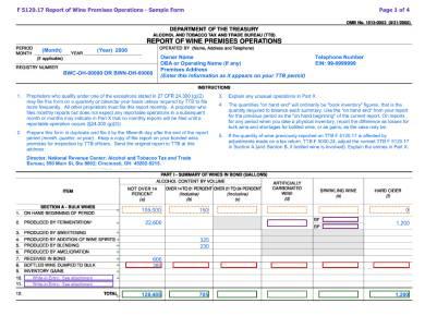 wine inventory report sample