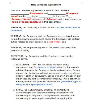 2 page employee non disclosure agreement sample
