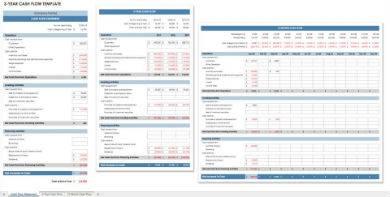 3 year cash flow statement sample