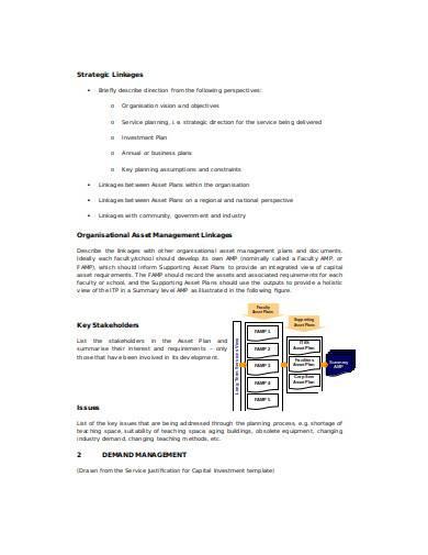 asset management plan in doc
