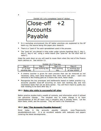 basic accounts payable sample