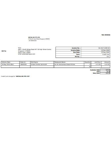 basic bill to invoice