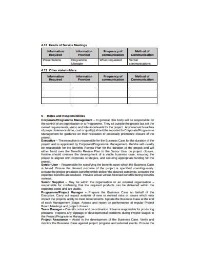 basic communication management plan template