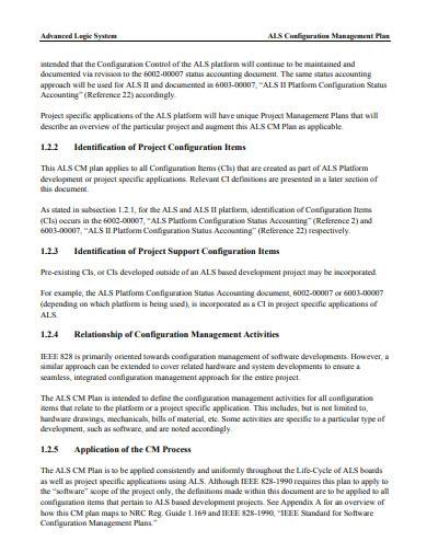 basic configuration management plan sample