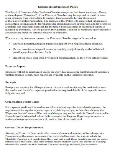 basic expense reimbursement policy template