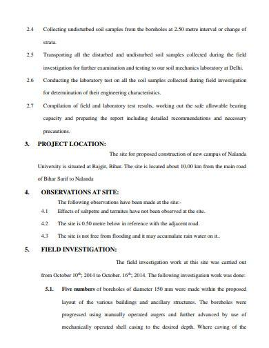 basic geotechnical investigation report