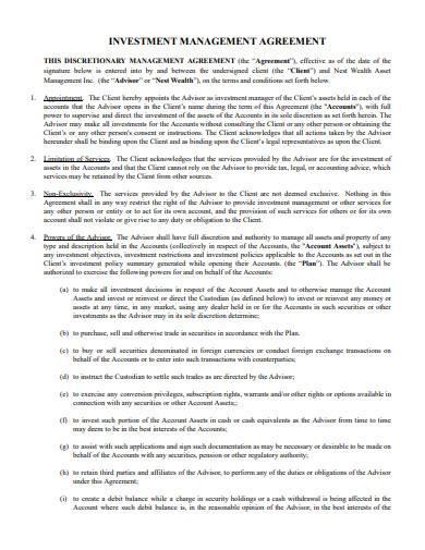 basic investment management agreement