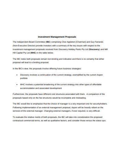 basic investment management proposal
