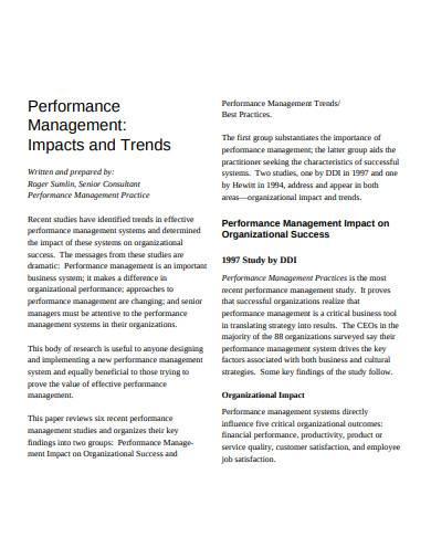 basic performance management