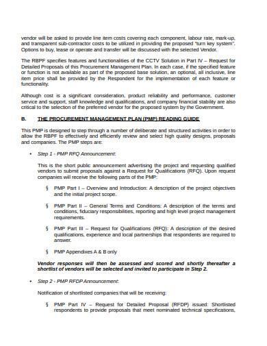 basic procurement management plan