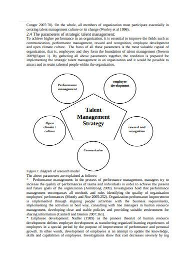 basic talent management strategy template
