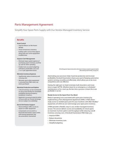 basic vendor management agreement sample