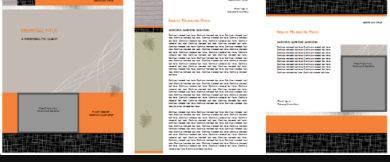 black and orange bid proposal sample