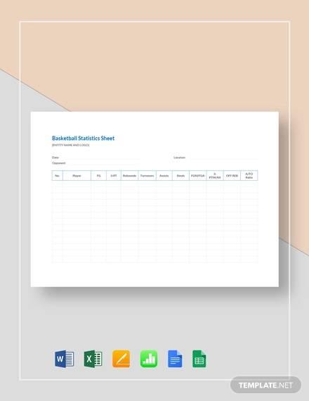 blank basketball stat sheet template