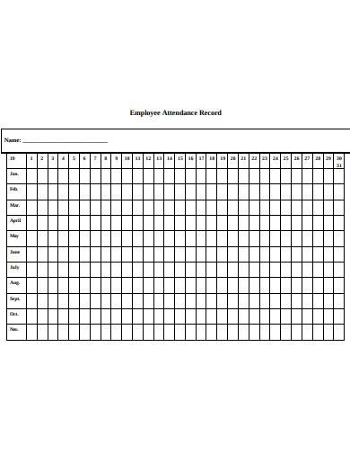blank employee attendance record in pdf