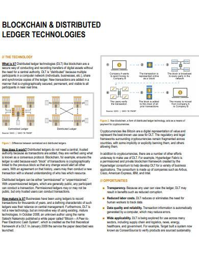 block chain and distributed ledger technologies