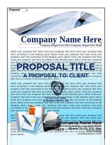 blue bid proposal sample