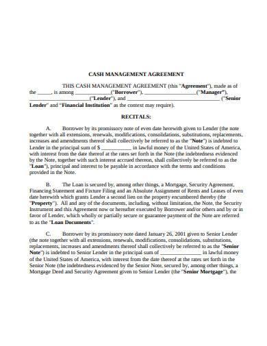 cash management agreement