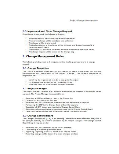 change management in doc
