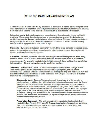 chronic care management plan