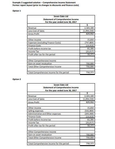 comprehensive income statement in pdf