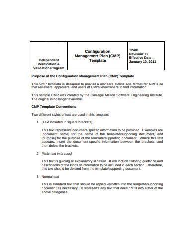 configuration management plan template