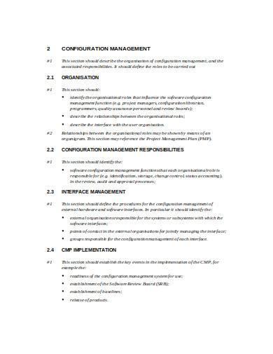 configuration management plan in doc