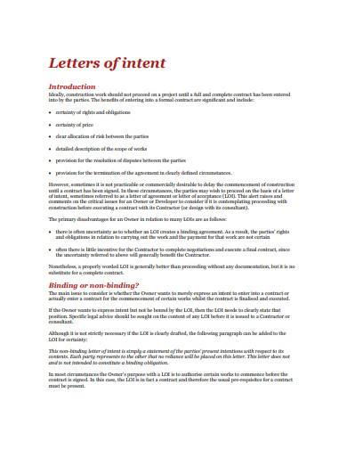 contractor letter of intent in pdf