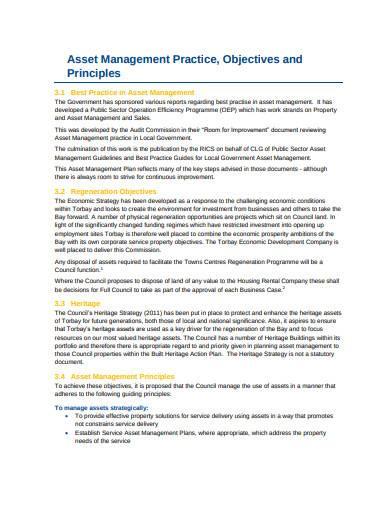 corporate asset management plan sample