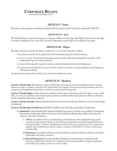 corporate bylaws