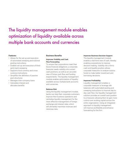 corporate liquidity management