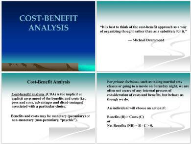 cost benefit analysis presentation sample