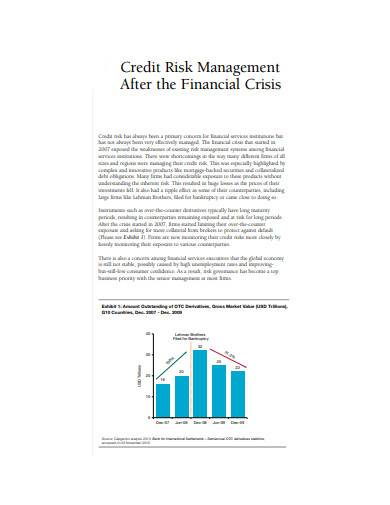 credit risk management after financial crisis