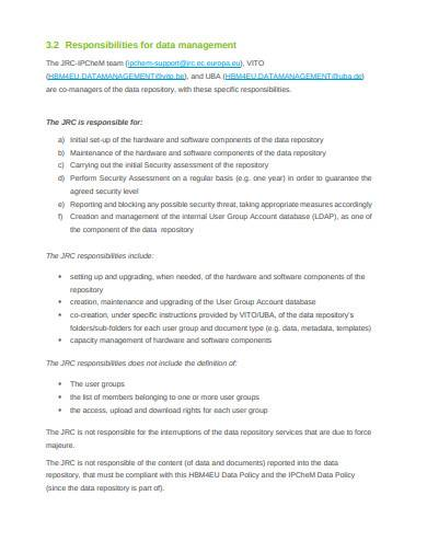 data management plan sample