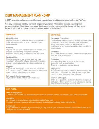 debt management plan in pdf