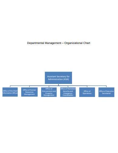 departmental organisation chart sample