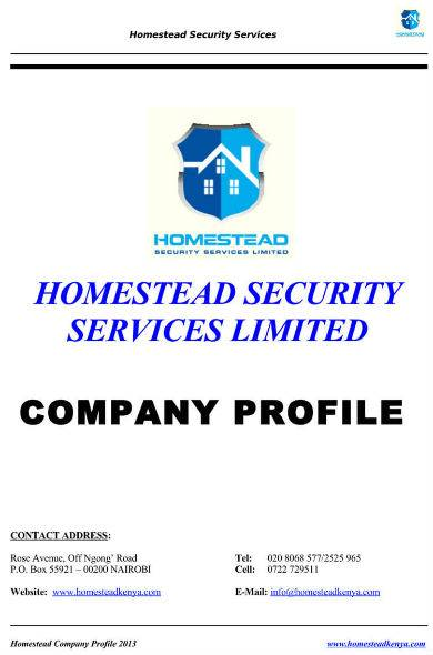 detailed company profile sample for security service