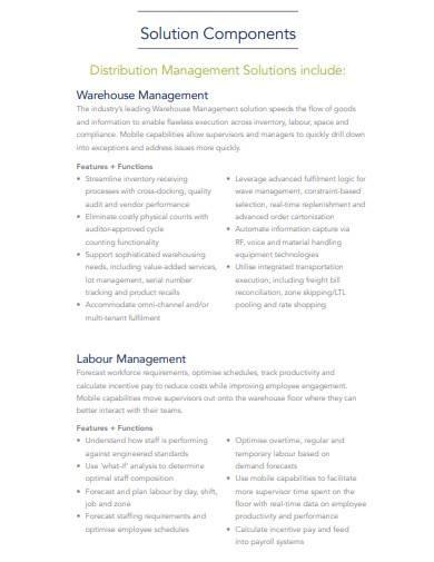 distribution management solutions